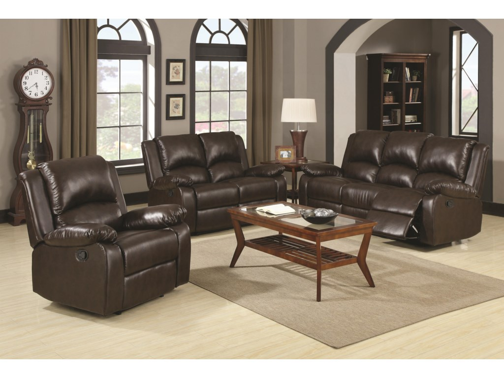 Shown with Reclining Loveseat and Reclining Sofa