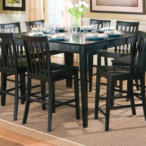 Coaster Pines Counter Height Dining Leg Table with Leaf