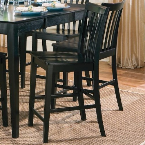 Coaster Pines Counter Height Slat Back Chair