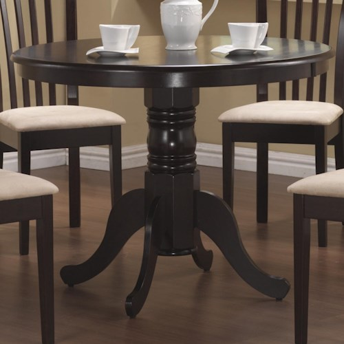 Coaster Brannan Round Single Pedestal Dining Table