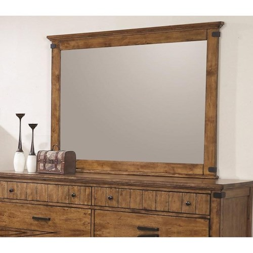 Coaster Brenner Mirror with Wood Frame