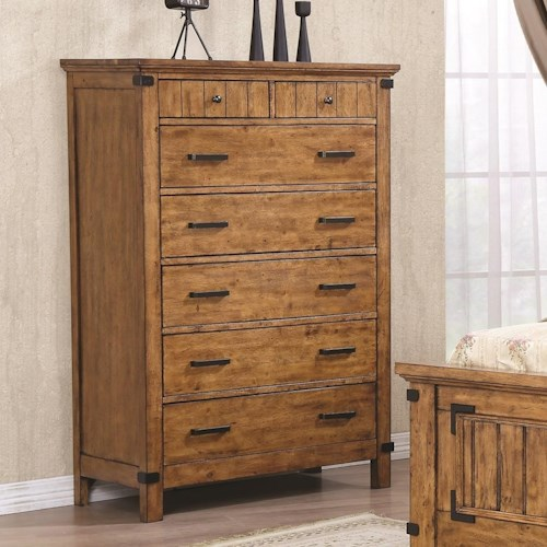 Coaster Brenner 7 Drawer Chest with Felt Lined Drawers