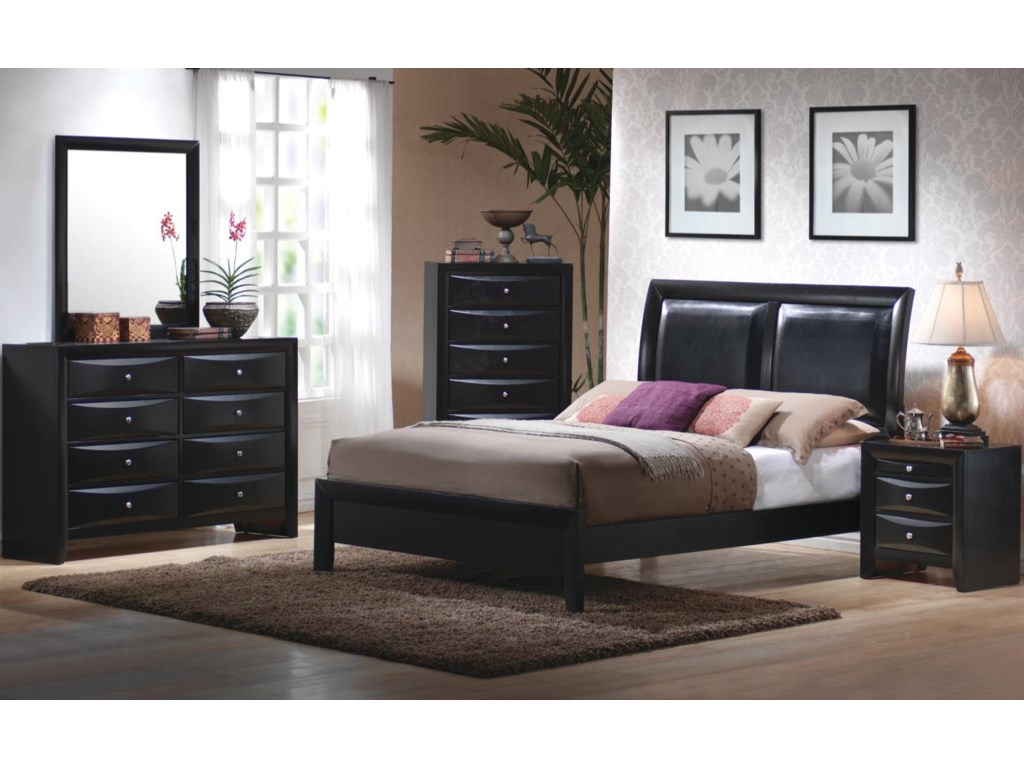 Shown in Room Setting with Dresser, Chest, Bed, and Nightstand