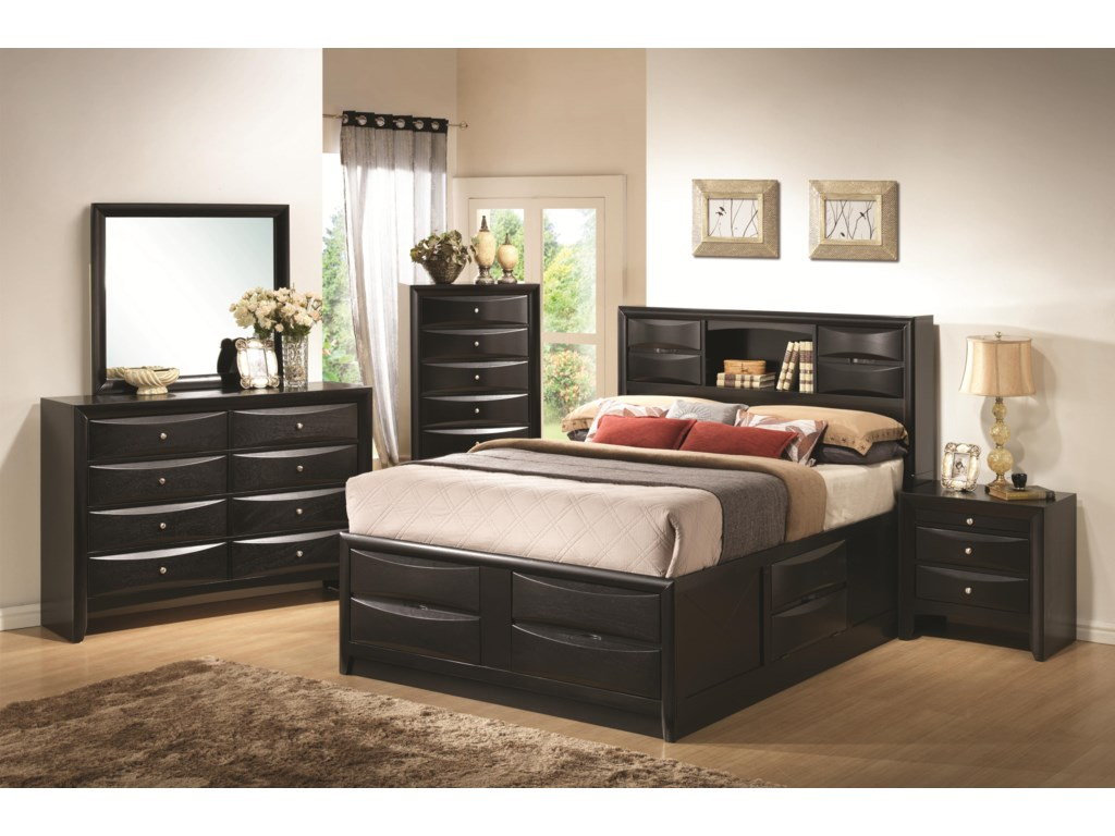 Shown with Dresser, Mirror, Chest of Drawers, and Night Stand