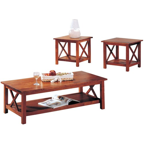 Coaster Briarcliff Casual 3 Piece Occasional Table Set