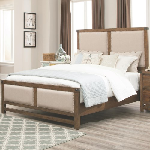 Coaster Bridgeport King Bed With Upholstered Headboard and Footboard