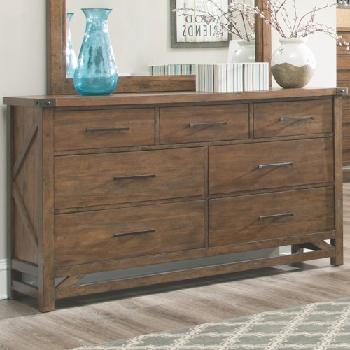 Coaster Bridgeport Dresser with 7 Drawers and Block Feet