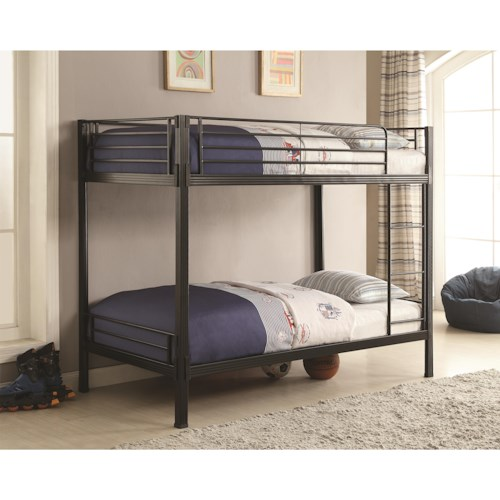 Coaster Bunks Metal Twin over Twin Bunk Bed