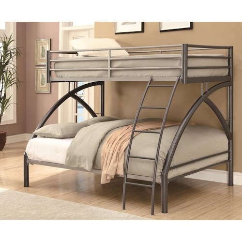 Coaster Bunks Twin-over-Full Contemporary Bunk Bed
