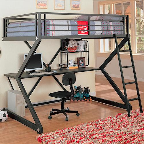 Coaster Bunks Workstation Full Loft Bed