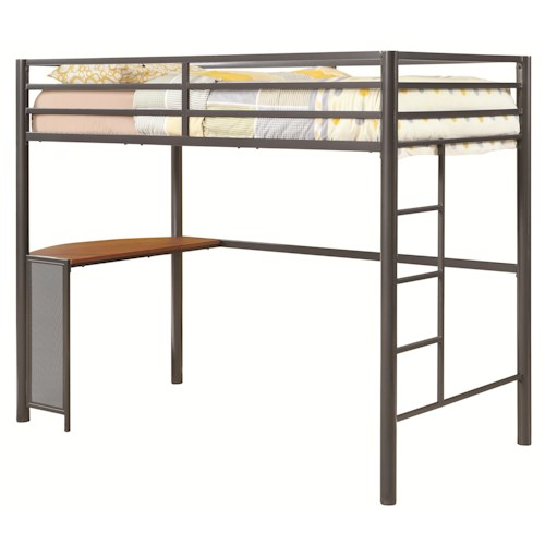 Coaster Bunks Twin Metal Workstation Loft Bed