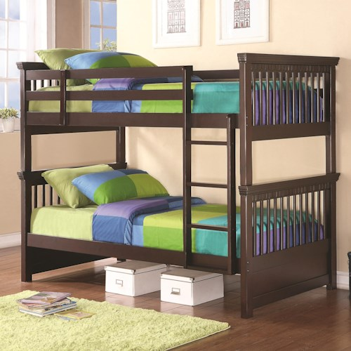 Coaster Bunks Casual-Style Twin Bunk Bed