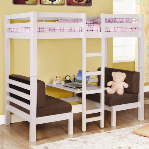 Coaster Bunks Twin Over Twin Convertible Loft Bed
