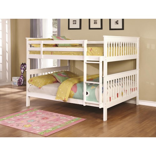 Coaster Bunks Traditional Full over Full Bunk Bed