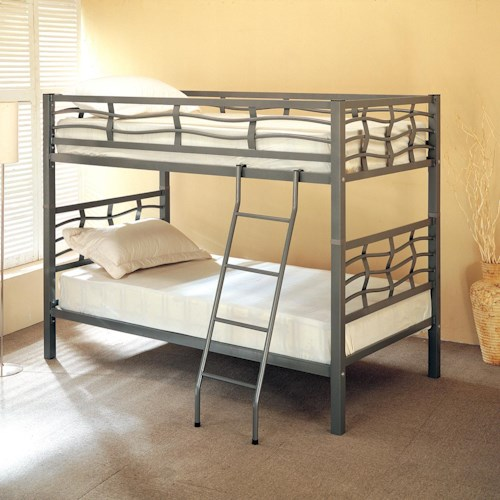 Coaster Bunks Twin Bunk Bed with Ladder