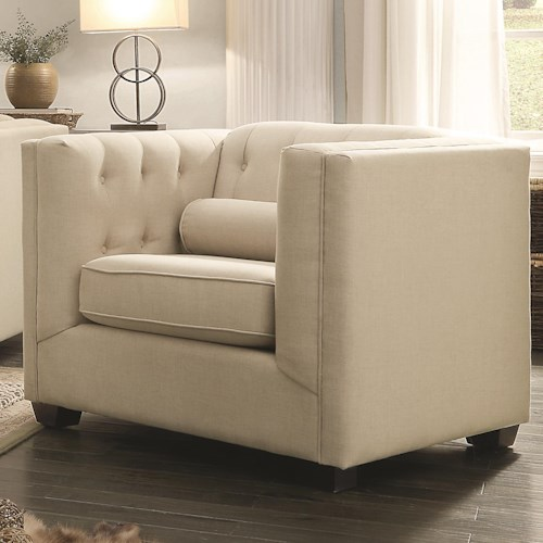 Coaster Cairns Upholstered Chair with Tufting