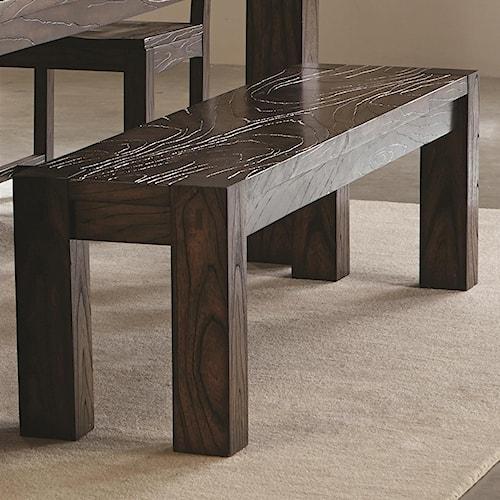 Coaster Calabasas Contemporary Bench with Wavy Wood Grain