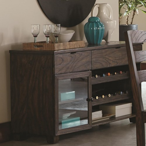 Coaster Calabasas Contemporary Server with Removable Wine Rack
