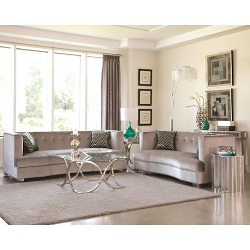 Coaster Caldwell Stationary Living Room Group