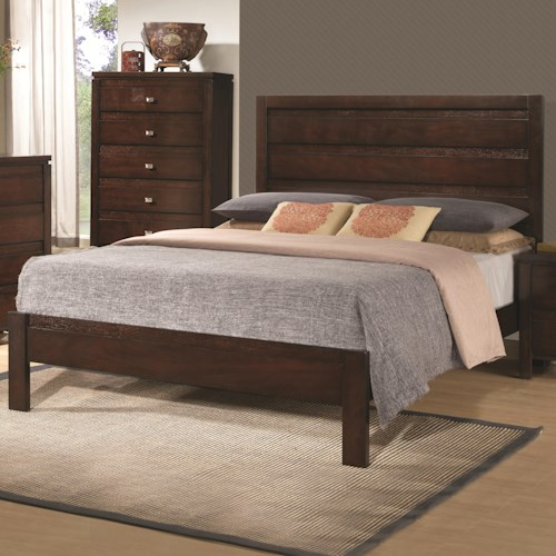 Coaster Cameron Queen Bed with Panel Headboard and Footboard