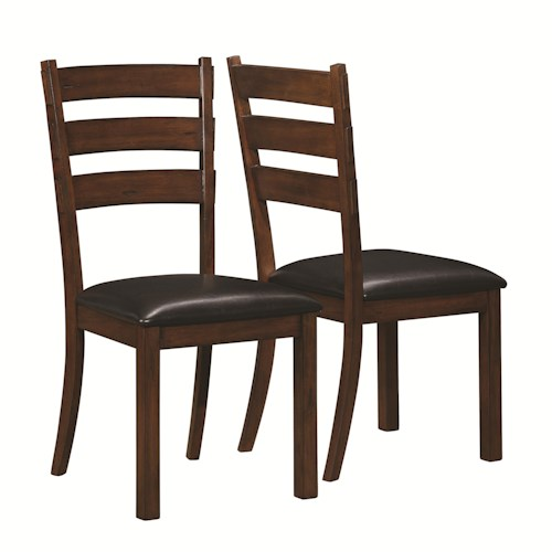 Coaster Campbell Side Chair with Ladder Back