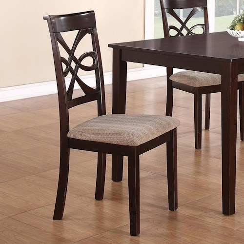 Coaster Cara Dining Chair with Upholstered Seat