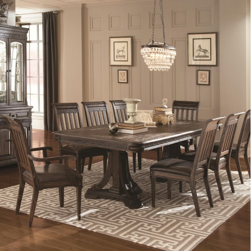 Coaster Carlsbad Dining Set with 6 Side Chairs and 2 Arm Chairs