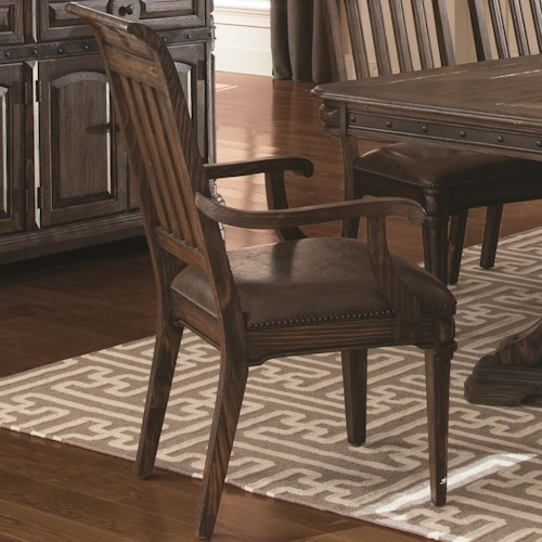 Coaster Carlsbad Dining Arm Chair with Slat Back