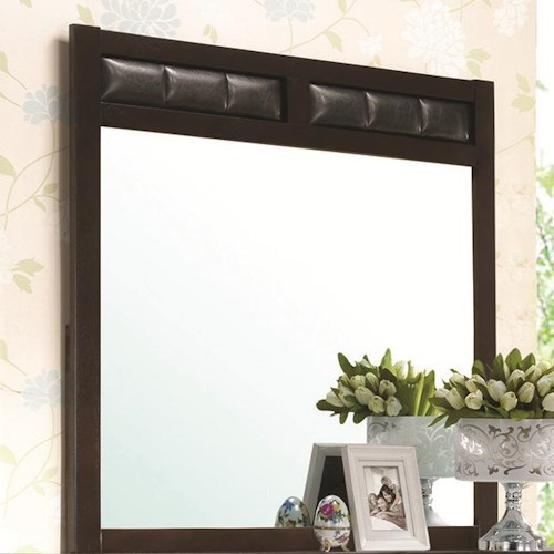 Coaster Carlton Dresser Mirror with Upholstered Frame