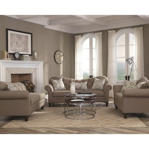 Coaster Carnahan Stationary Living Room Group