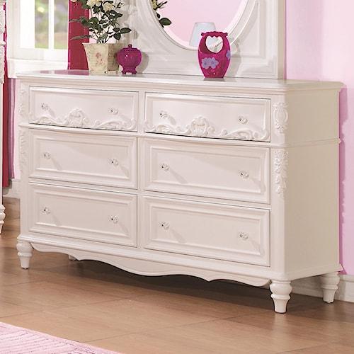 Coaster Caroline Decorative 6 Drawer Dresser