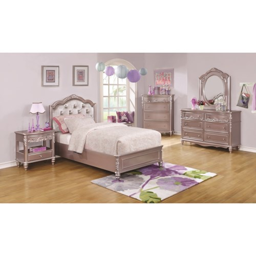 Coaster Caroline Twin Bedroom Group