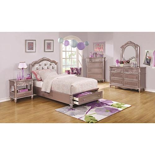 Coaster Caroline Twin Storage Bedroom Group