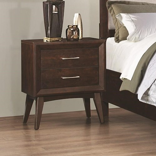 Coaster Carrington Night Stand with Two Dovetail Drawers