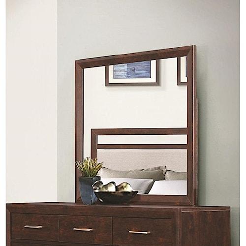 Coaster Carrington Mirror with Wood Frame