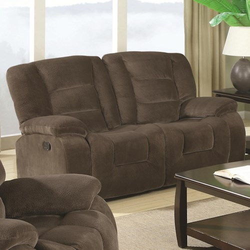 Coaster Charlie Casual Styled Double Reclining Love Seat