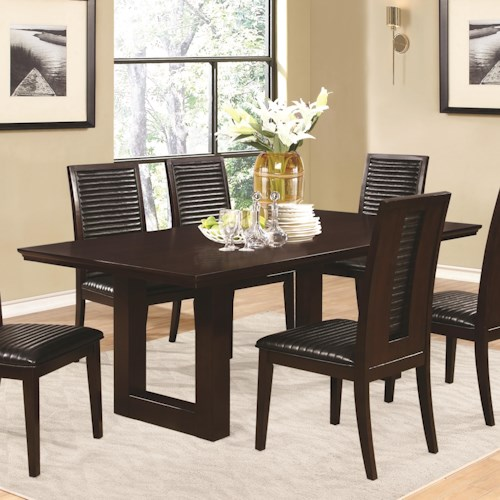 Coaster Chester Rectangle Dining Table with Pedestal Base
