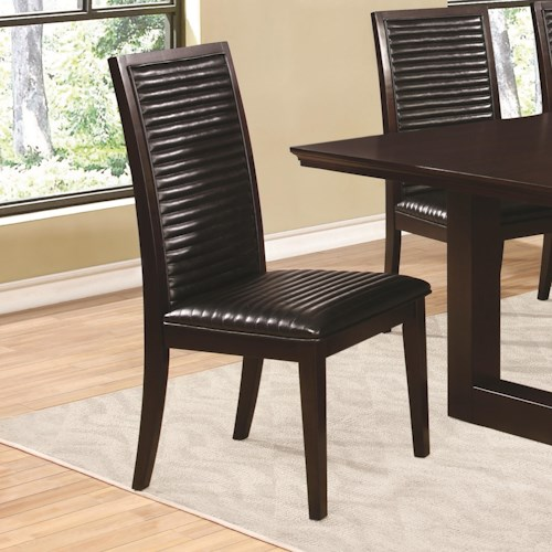 Coaster Chester Dining Side Chair with Upholstered Seat and Back