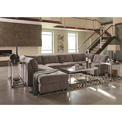 Coaster Claude Contemporary Two Tone Sectional Sofa