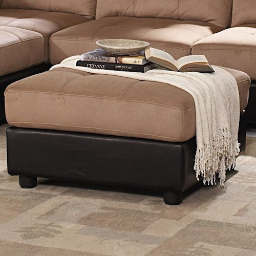 Coaster Claude Contemporary Two Tone Ottoman