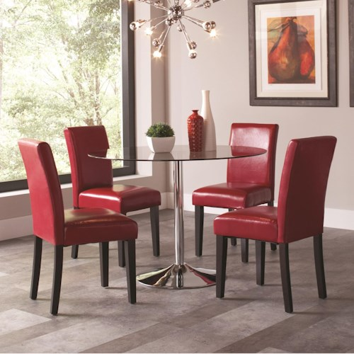 Coaster Clemente 5 Piece Round Table & Chair Set