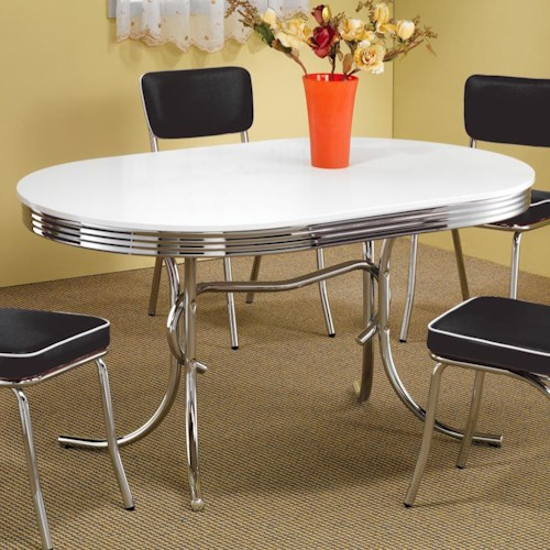 Coaster Cleveland Chrome Plated Oval Dining Table