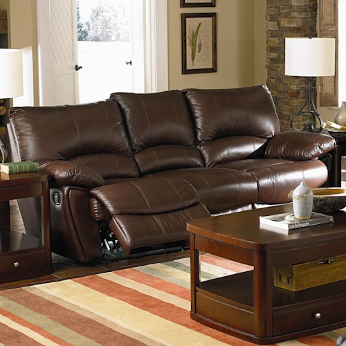 Coaster Clifford Brown Leather Double Reclining Sofa