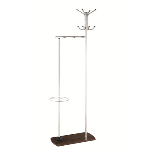 Coaster Coat Racks Large Coat Rack w/ Umbrella Stand