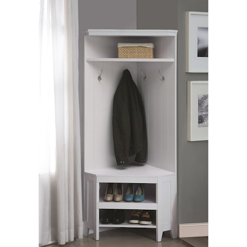 Coaster Coat Racks Corner Hall Storage with Shoe Storage