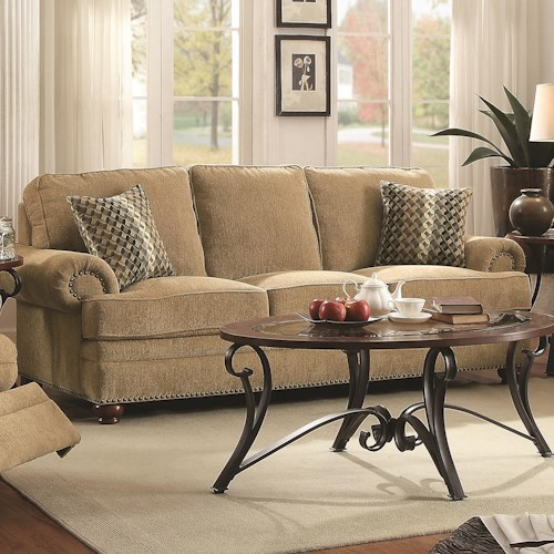 Coaster Colton Traditional Sofa with Elegant Design Style