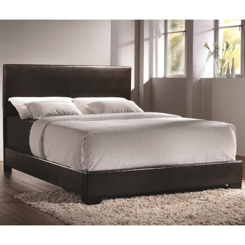 Coaster Conner California King Upholstered Bed with Low Profile