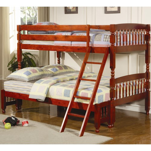 Coaster Coral Traditional Twin Over Full Bunk Bed