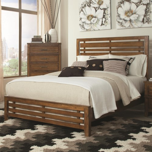 Coaster Cupertino Transistional Slatted Eastern King Size Bed