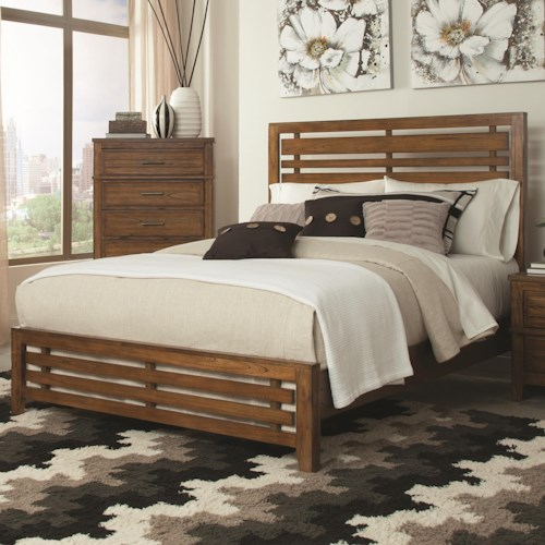 Coaster Cupertino Transistional Slatted Queen Size Bed